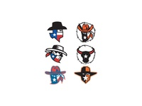 Texas Outlaw Mascot Collection