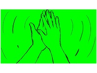 High Five Hand Gesture Drawing 2D Animation