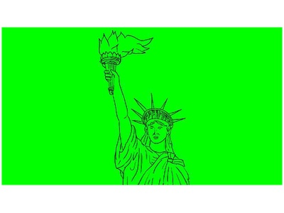 Statue of Liberty Flaming Torch Drawing 2D Animation 1080p high definition hd motion graphics statue neoclassical sculpture colossal united states of america american liberty fiery new york liberty island flames fire flaming torch statue of liberty 2d animation animation