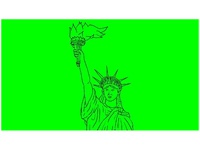 Statue of Liberty Flaming Torch Drawing 2D Animation