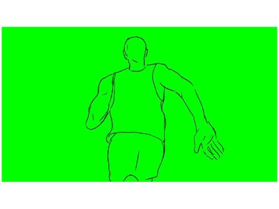 Marathon Runner Running Rear Drawing 2D Animation