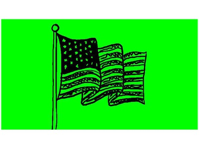 American Stars and Stripes Flag Wave Drawing 2D Animation