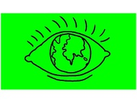 Eye With Earth Globe as Eyeball Drawing 2D Animation