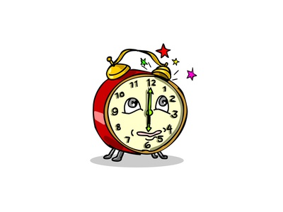 Traditional Alarm Clock Waking Up Cartoon sound sleeper star morning time spring-driven alarm clock mechanical traditional wind-up keywound ringing setting off bell buzzer asleep wake up waking up timer clock alarm clock caricature cartoon