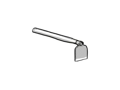 grub hoe Garden Tool Cartoon Retro Drawing