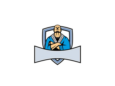 Brazilian Jiu Jitsu Master Shield Mascot