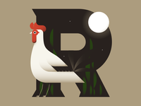 #36DaysofType - Rooster