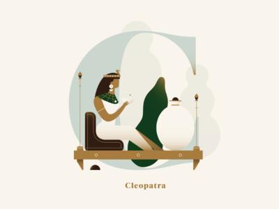 Phenomenal Women - Cleopatra gradient letter egypt girl queen cleopatra woman dropcap alphabet flat vector illustration