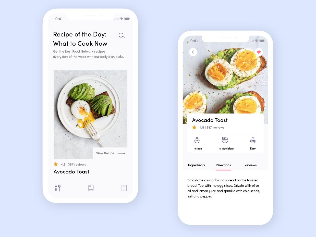 Recipe App food cooking mobile ux ui  ux design design ui