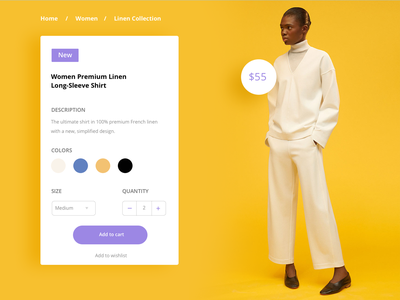 Product page uidesign ui pack web ecommerce product daily ui 001 daily ui
