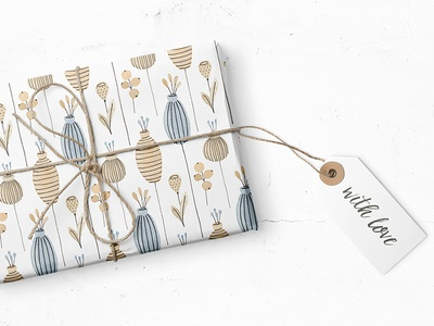 Floral Pattern Wrapping Paper pattern design illustration patterns flowers surface pattern giftpaper giftwrap wrapping paper floral pattern