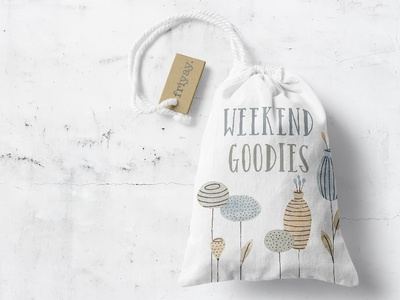 Weekend Bag friday weekend botanical product graphics surface design product design bag tote cute floral flowers illustration