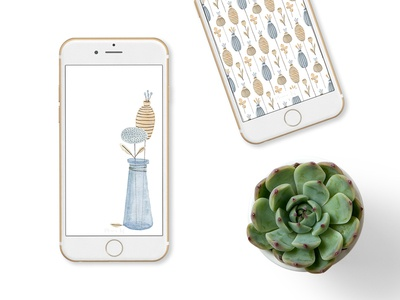 Free floral wallpapers for your phone floral pattern floral pattern surface pattern illustration flowers iphone wallpaper phone wallpaper wallpaper free