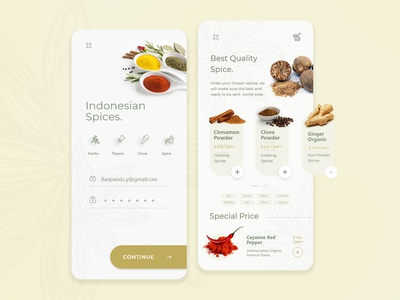 Spices Shop App Exploration