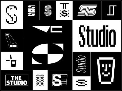 The Studio t s monogram beer branding apple design bar logo