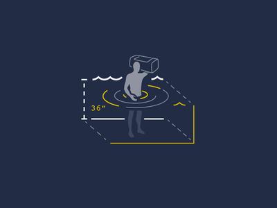 Wading Illustration