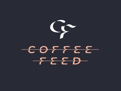 Coffee Feed - Primary Lockup drop mug typography type espresso art latte design logo branding coffee
