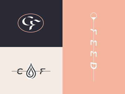 Coffee Feed - Supporting Marks design espresso pour icon drop drip typography type logo branding coffee