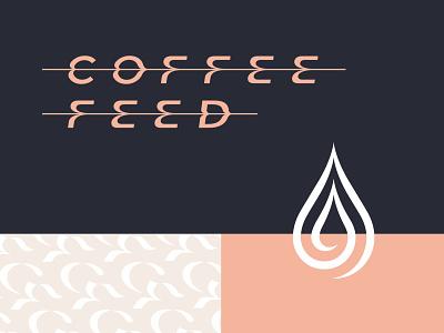 Coffee Feed - Type, Drop, and Pattern art latte type pattern drop drip espresso branding logo design feed coffee