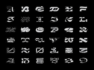 36 Days of Type 2021 brush number extended bold letter script modern blackletter lettering font design type of days 36 36daysoftype