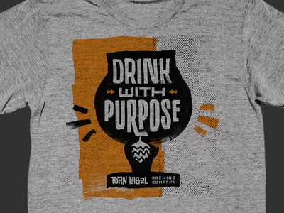 Drink With Purpose Torn Label Brewing Shirt drink with purpose torn label brewing shirt beer brewery hop kc
