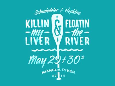 Bachelorette Party Shirt shirt oar canoe float trip water typography brush lettering bachelorette hand