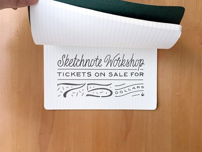 Sketchnotes Workshop Lettering kc kansas city notebook 75 script workshop lettering notes sketch