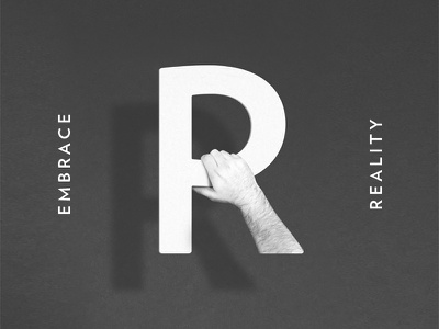 Embrace Reality hand r design editorial report annual redeemer reality embrace concept photo illustration