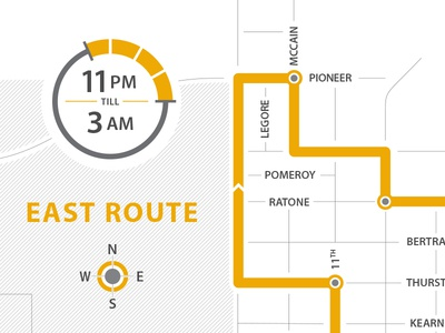 SafeRide Bus Route Map