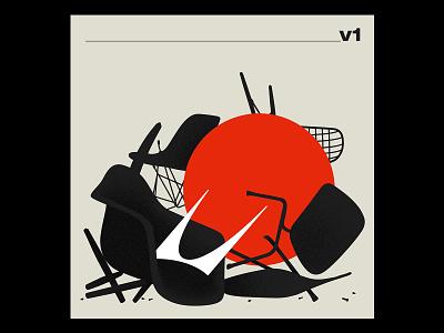 Herman Miller Illustration shell logo illustration miller furniture modern mid-century chair silhouette