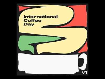 International Coffee Day Illustration cup mug steam illustration