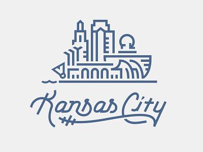 Kansas City typography kansas city illustration skyline missouri kansas city skyscrapers