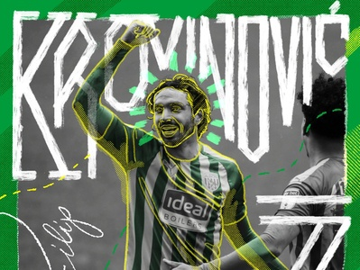 Krovinović #7 procreate football wba illustration design typography handlettering hand drawn krovinovic