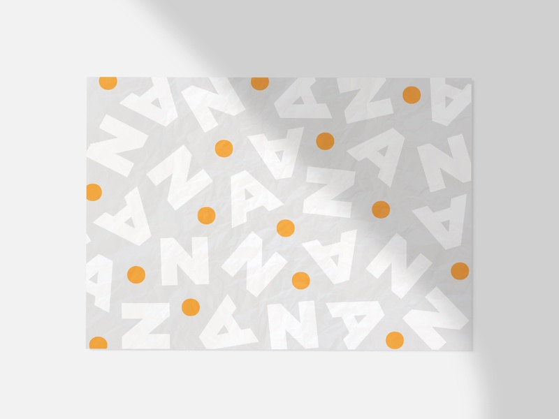 A.N. graphic orange vector pattern typography type