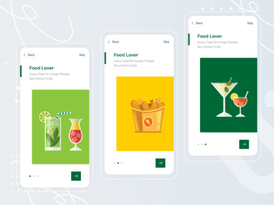 Walkthrough Food App Screen