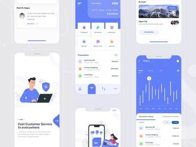 Banking App android animation ios creative concept best shot ui new trends uikit finance money bank app dribbble best shot account banking bank