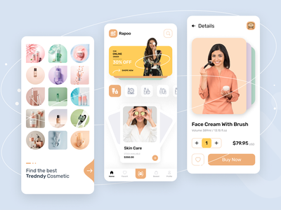 Cosmetic eCommerce App helth care body care skin care woman products dribbble best shot creative new trends produtcs spa ecommerce cosmetic