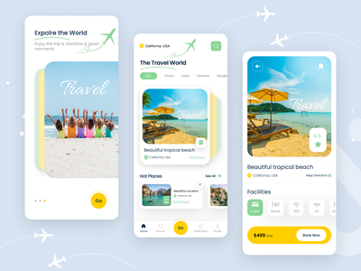 Travel App ✈️ apps ios uikit trip best shot creative dribbble best shot ticket travel agency travelers vacation air tour plan tour travel