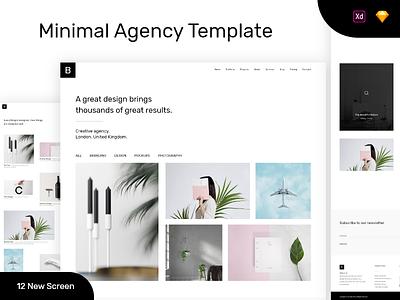 Minimal Agency website design landing page design dribbble best shot creative design concept best shot best template agency template digital agency agency minimal agency