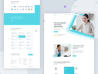 Doctor Appointment color typography landing page design landing page creative concept dribbble best shot best shot appointment doctor doctor appointment