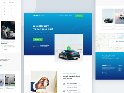 Buying and selling cars color typography landing page design landing page best shot concept creative dribbble best shot buy selling car car selling