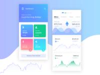 Bitcoin app screen