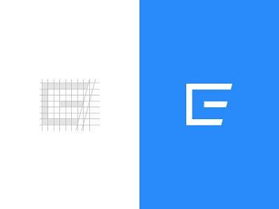 CE monogram concept simple flat letter monogram ce blue logo