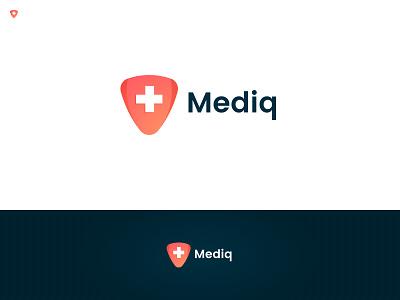 Mediq pharmacy doctor health care branding identity logo medic