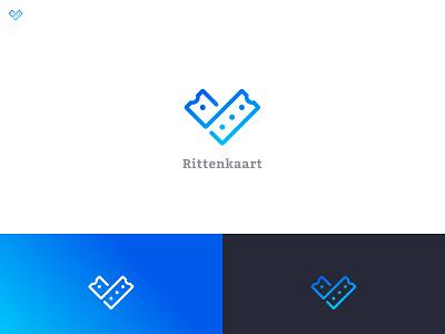 Rittenkaart Logo identity logo ritten rit card ticket times goes branding brand startup mark