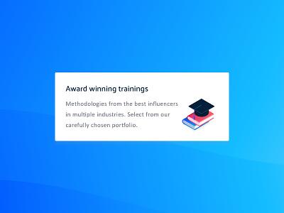 W.I.P. training blended learning hat illustration icon books graduation education