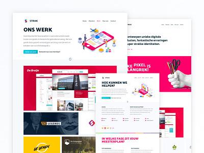 New website creative studio service full front-end agency design isometric website