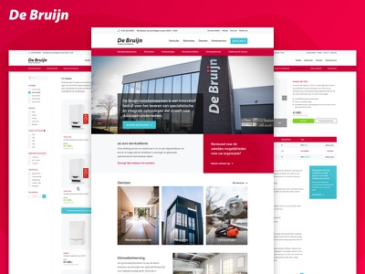 De Bruijn contract service webshop enginering shop products boiler website