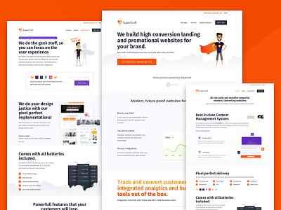 SuperCraft.shop - Brand identity and webdesign conversion agencies branding apps websites development cms