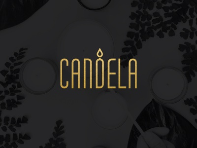 Candela scented candles light icon logo luxurious candle manufacturer candle mark logos logotype logo design branding visual identity graphic design